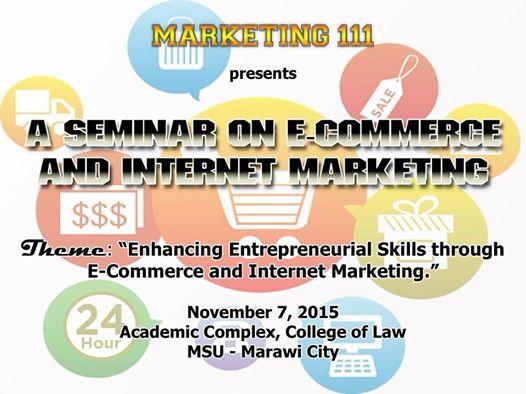 ecommerce and internet marketing seminar