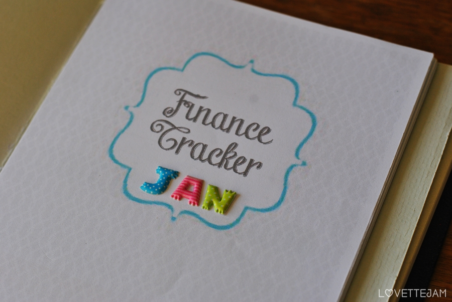 cover page | finance tracker | lovettejam